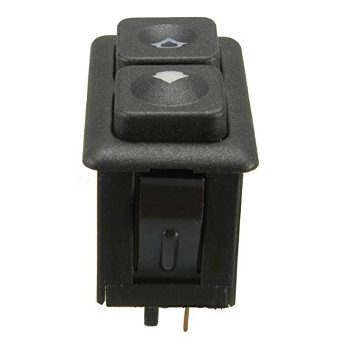 Interruttore a manopola per auto, 1 pezzo, 5 pin, interruttore per finestra di alimentazione elettrica, colore nero, adatto per BMW E23 E24 E28 E30 L6 M5 61311381205 accessori per auto (nero)
