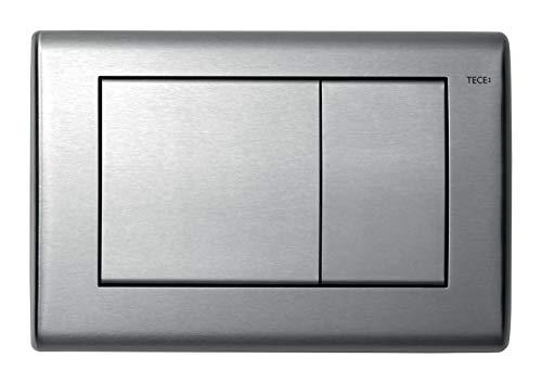 TECE planus WC-Betätigungsplatte (Edelstahl gebürstet; mit beidseitig gummigepufferten Betätigungstasten) 9240320