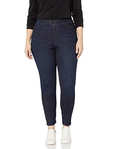 Amazon Essentials Plus Size Pull-On Skinny Jegging Jeans, Dark Wash, 20 Regular
