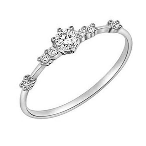 jieGorge Rings for Women , Women Fashion Eternity Thin Rings Plating Wedding Jewellery , Gifts for Women and Girls (SL7)