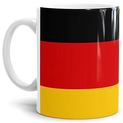 Tassendruck Flaggen-Tasse/Souvenir/Urlaub/Länder-Fahne/Kaffetasse/Mug/Cup - (Deutschland, Normal)