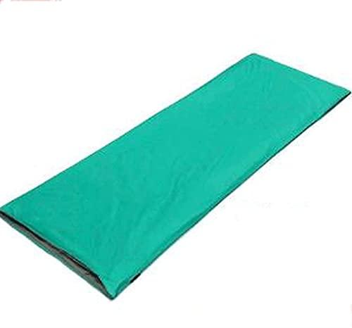 JoHUAZ Un Solo Saco de Dormir for los Sacos de Dormir rectangulares Impermeables for Adultos for el Interior de Camping al Aire Libre de Interior (Color: Verde) (Color : Verde)