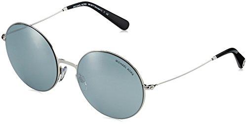 Michael Kors MK5017 MK5017 Rund Sonnenbrille 5, Silber/Blau