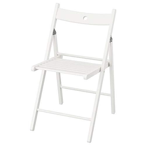 Tok Mark Traders TERJE Klappstuhl, weiß, 44 x 51 x 77 cm, strapazierfähig und pflegeleicht, Klappstühle, Esszimmerstühle, Möbel, umweltfreundlich