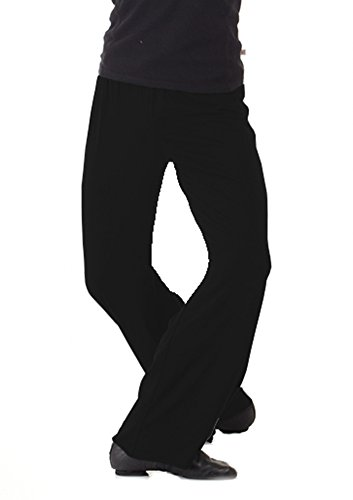 B Dancewear Boys Jazz Pants For Dance Slim Fit Large Black Youth Child and Kid Sizes