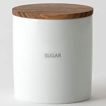 LOLO 保存容器 キャニスター BS08 陶器 日本製 チーク 白磁 SALIU シュガー 320ml