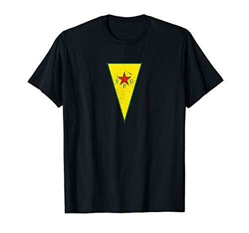 Kurdisch YPG Flagge Design Rojava Kurdistan Kämpfer T-Shirt