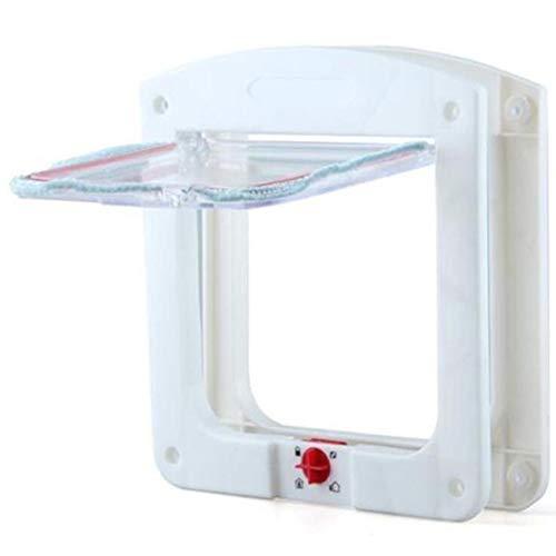 Ice con huisdier deur, energie-efficiënt houden warm 4 weg vergrendelen automatisch gesloten klep deur met magnetische ontwerp past voor schuifglazen deur, glas raam en houten deur
