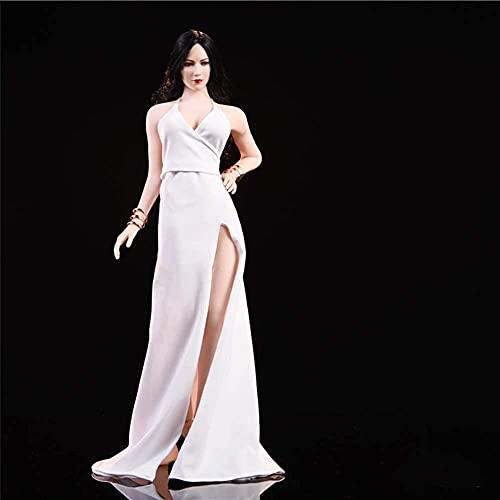 1/6 Abendkleid auf rotem Teppich Kleid Modell Carving Body Zubehör für HT Verycool TTL Gaming PHICEN Weiß