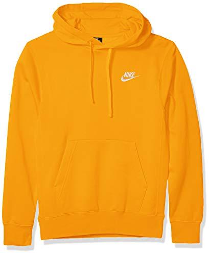 Nike Men's Sportswear Club Pullover Hoodie, Soft Hoodie for Men with Kangaroo Pocket, Dark Sulfur/Dark Sulfur/White, X-Large