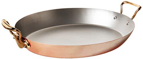 Mauviel M'Heritage M'150B Copper Oval Pan, 17.7' Bronze Handle