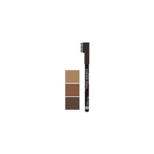 Rimmel Professional Eyebrow Pencil, Dark Brown 1 ea (Pack of 2)
