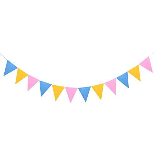Heng kleurrijke vilt banner pompons bal slingers verjaardag bunting wimpel bruiloft guirlande vlaggen feestartikelen, F03