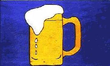 Nuevo diseño de jarra de cerveza de flores de la bandera de 152,4 cm x 91,44 cm