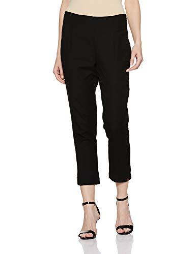 BIBA Damen Hose aus Baumwolle, Schwarz - Schwarz - Small