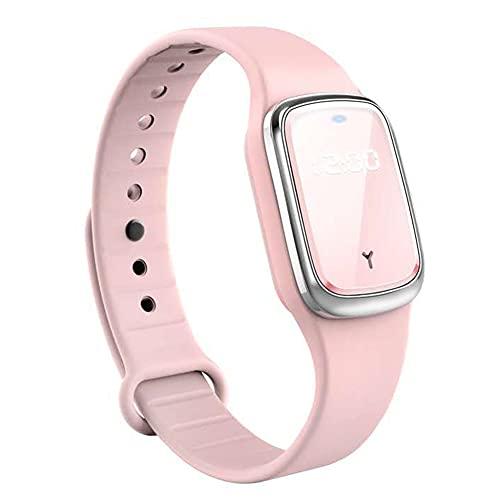 chebao, Reloj inteligente, smartwatches, M2 repelente ultrasónico de mosquitos anti insectos insectos plagas pulsera (rosa)
