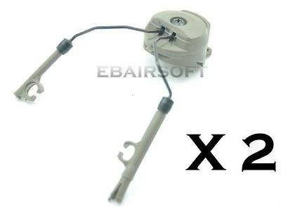 AIRSOFT FMA PT Helmet Rail Adapters FAST FG OD GREEN CORE PELTOR RADIO HEADSET