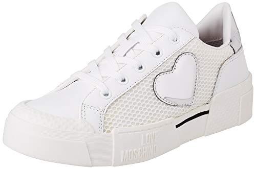 Love Moschino, Scarpe da Donna, Collezione Primavera Estate 2021, Chaussure. Femme, Blanc, 38 EU