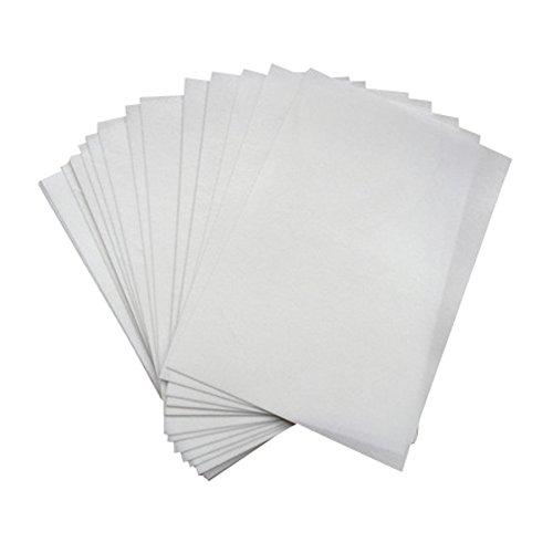 Bramacartuchos 50 Hojas Papel Comestible DE OBLEA con Brillo A4- DE Color Blanca Brillo (Grosor DE Approx 0.3mm (Papel DE ARROZ) para Usar Tinta Comestible, envío Desde Madrid