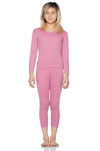 BODYCARE INSIDER Girl's Anti-Bacterial Solid Girls Thermal Top and Bottom Set (Fuchsia; 3-6 Months)