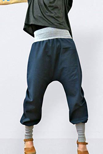 Jeans Haremshose blau aus Baumwolle