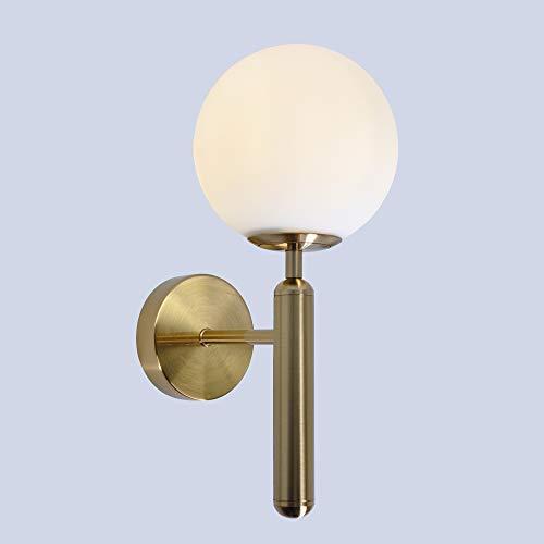 Artpad Nordic Modern Milky Glass Ball Lámpara pared