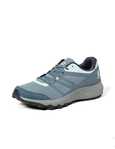 Salomon Trailster 2 Mujer Zapatos de trail running, Gris (Lead/Stormy Weather/Icy Morn), 42 EU