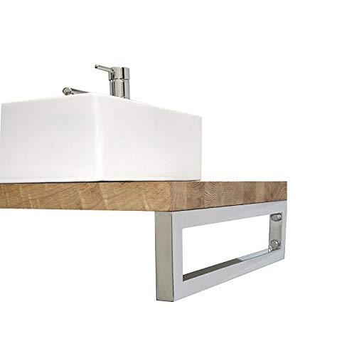Waschtischhalterung - 1 Stück   Wandhalterung in Chrom   Handtuchhalter Konsolenhalterung   Regalhalterung   500mm
