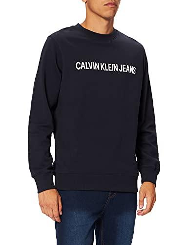 Calvin Klein Jeans Herren CORE INSTITUTIONAL Logo Sweatshirt, Blau (Night Sky 402), Large (Herstellergröße: L)
