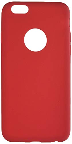 Shot Case Carcasa de Silicona para iPhone 6/6S, Color Rojo