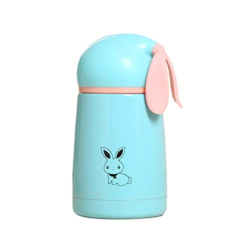 Centraliain 300ml Thermal Cup Rabbit Edelstahl Vakuum Outdoor Thermal Kids Cup Wasserflasche Becher Blau