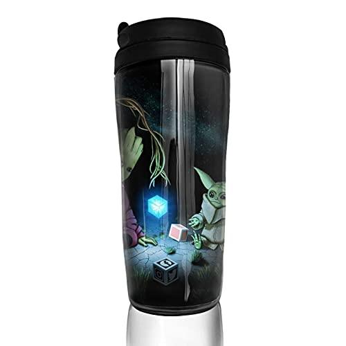 Groot Baby Yoda Star The Wars Taza de café reutilizable aislada taza de viaje para bebidas frías calientes, 350 ml
