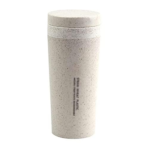 Termos Exterior Taza térmica plástica Taza con Aislamiento Doble Café Invierno Frasco...
