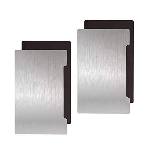 HzdaDeve Plataforma de impresión de resina para impresora 3D, 135 x 80 mm, placa de acero flexible magnética para Anycubic Photon S Mono SE QIDI 3D Shaw 5.5S SLA