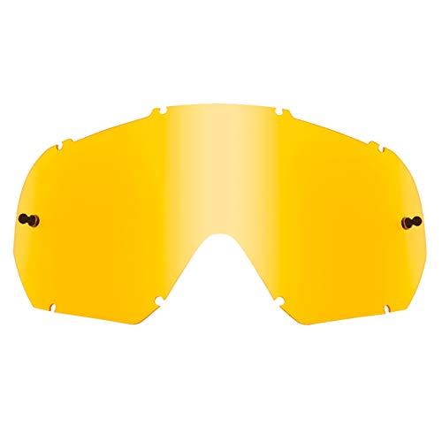 O\'NEAL | Motocross-Brillen-Ersatzteile | Motorrad Enduro | Maximale Lichtdurchlässigkeit bei allen Bedingungen, 1,2 mm starke Linse mit 100{7d4a40b24800dc68f367d5272e15dc040919b78e6f1bfa2d4054e4bcdcb04cb3} UV Schutz, | B-10 Goggle Spare Lens | Gelb | One Size