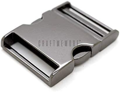 Outlet ☆ Free Shipping CRAFTMEMORE 1 pc 1-1 2 inch Metal Release Curved Buckle Limited price sale Adj Side