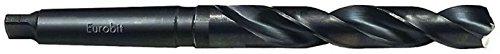 Eurobit 0250Broca rettificata HSS-G con vástago cónico Morse, Negro, 26mm