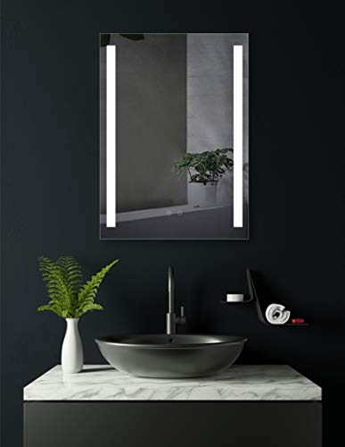 HOKO® LED Badezimmerspiegel mit ANTIBESCHLAG SPIEGELHEIZUNG, Borkum 60x80cm, LED Bad Spiegel, Energieklasse A+ (WEEE-Reg. Nr.: DE 40647673