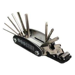 Generic 16 en 1 bicyclette Tool funciton outils de réparation de vélo-Noir-KIT KIT Mécanicien