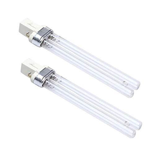 TEHAUX 2 piezas de repuesto para lámpara UV UV-C foco de luz externa para acuario acuario acuario tanque de peces purificador de aire