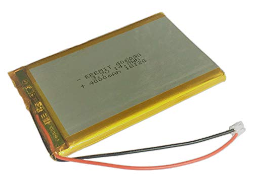 EREMIT Lithium Polymer LiPo Batterie Akku 4000mAh 3.7 V 1S PCB Tablet 606090 JST PH 2.0 mm 3