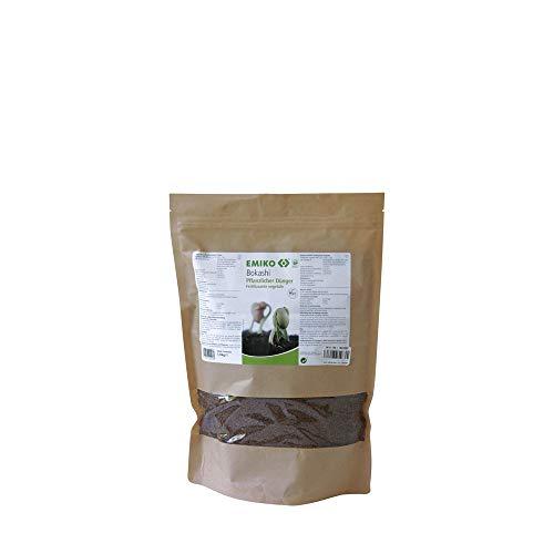 Bokashi pflanzlicher Dünger 1kg, organischer Allround-Langzeitdünger mit EM für den Garten, der Humusaufbau, aktives Bodenleben und Vitale Pflanzen fördert (1)