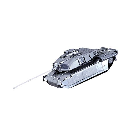 F Fityle 3D Metal Jigsaw Puzzle Construction Toy - 1:54 UK Challenger 2 Main Battle Tank Army Vehicle Figure Model Kids Gifts