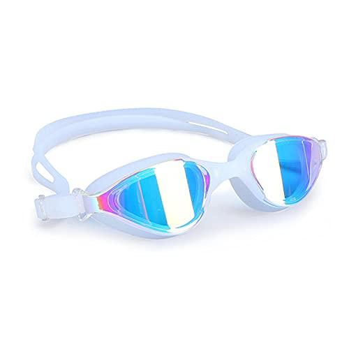 DSJGVN Gafas Natacion Antivaho, Profesional Anti Niebla Sin Fugas Marco Grande Gafas para Nadar Correa de Silicona Ajustables Puente Nasal