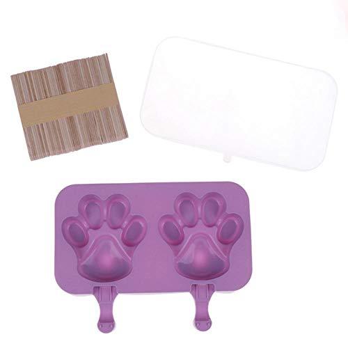 Molde de helado de silicona 4/8 celda cubo de hielo bandeja alimentos seguro paletas fabricante DIY casero zer hielo Lolly molde hogar helado herramienta