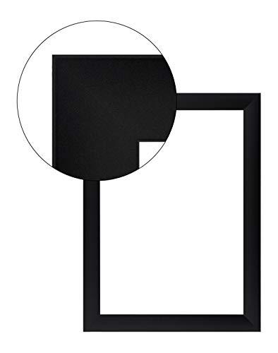 Olimp PRORSUS 35 mm Bilderrahmen für 34 x 18 cm Bilder, Farbe: Schwarz matt, in Allen Maßen mit Anti-Reflex Acrylglas und MDF Rückwand, Außenmaß: 39,8 cm x 23,8 cm