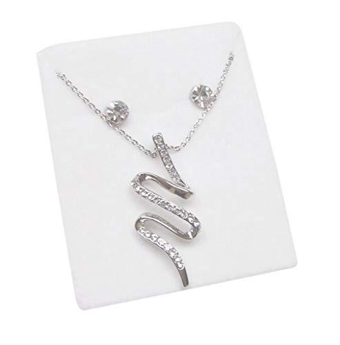 Générique sieradenset, halsketting met hanger slang verzilverd + oorbellen