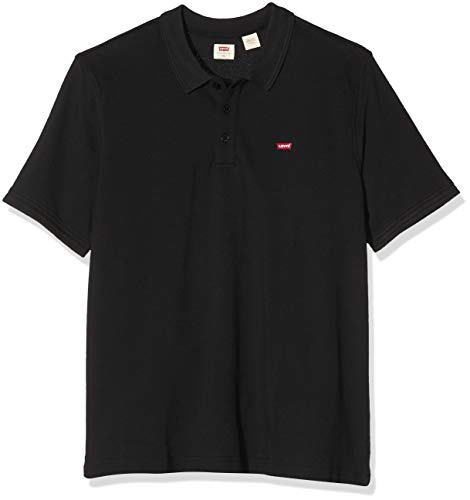 Levi's Men's Hm Polo Big Shirt, Mineral Black 0003, 1XL