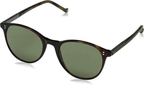 Hackett London Bespoke Gafas de sol, Marrón (Tort/Green), 56.0 para Hombre