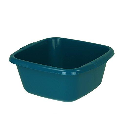 Curver Kunststoffschüssel 14L 39x37x17cm blau Schüssel Plastik Waschschüssel Schale quadratisch Behältnis